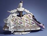 Theater figure, Meissen Manufactory (German, 1710–present), Hard-paste porcelain, German, Meissen