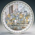 Plate, Miguel Soliva (Spanish, active 1727–55), Tin-glazed earthenware, Spanish, Alcora