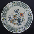 Plate, Factory of Jean-Baptiste Guillibaud (working 1720–39), Faience (tin-glazed earthenware), French, Rouen
