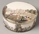 Snuffbox, Imperial Porcelain Manufactory, St. Petersburg (Russian, 1744–present), Hard-paste porcelain, silver gilt mounts (not original), Russian, St. Petersburg