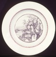 Soup plate, After a print by Bernard Picart (French, Paris 1673–1733 Amsterdam), Hard-paste porcelain, Chinese, possibly for Dutch market