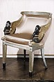 Armchair, Carved, painted and gilded beechwood, French or Italian