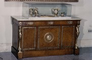 Cabinet (commode à vantaux), François-Honoré-Georges Jacob-Desmalter (French, 1770–1841), Oak, thuya wood veneer; gilt-bronze mounts; marble top, French