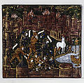 The Trojans Defend Their City; They Kill Androgeos (Aeneid, Book II), Master of the Aeneid (active ca. 1530–40), Painted enamel on copper, partly gilt, French, Limoges