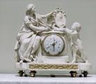 Clock, Clockmaker: Jean Martin (active 1737–81, died 1786), Case: Carrara marble, gilt-bronze mounts; Movement: brass, steel, French, Paris