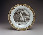 Soup plate, Hard-paste porcelain, Chinese, for Dutch market