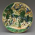 Dish, Probably Ferruccio Mengaroni (Italian, 1876–1925), Maiolica (tin-glazed earthenware), probably Italian, Pesaro