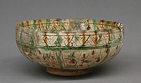 Bowl, Lead-glazed earthenware, Northern Italian