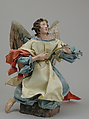Angel, Attributed to Lorenzo Mosca (died 1789), Polychromed terracotta head; wooden limbs and wings; body of wire wrapped in tow; various fabrics., Italian, Naples