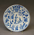 Plate, Faience (tin-glazed earthenware), probably French, Nevers