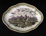 Oval tray (part of a service), Capodimonte Porcelain Factory (Italian, 1740/43–1759), Soft-paste porcelain, Italian, Naples