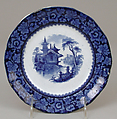 Plate, George Phillips, Longport, Ironstone (earthenware) with transfer-printed decoration, British, Longport, Staffordshire