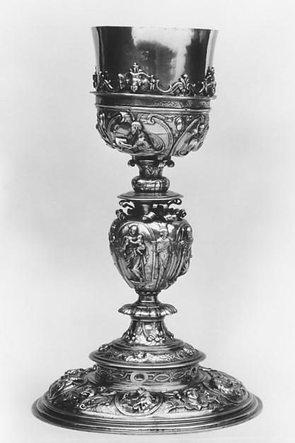 Chalice, Silver gilt, Spanish, Córdoba