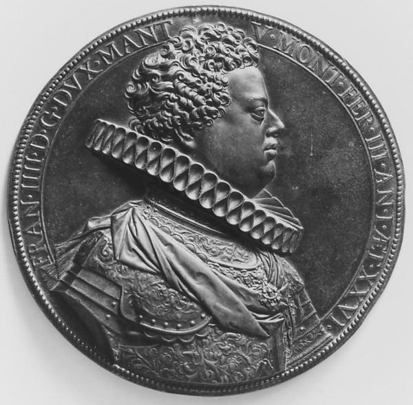 Francesco IV Gonzaga, Duke of Mantua (1586–1612), Medalist: Guillaume Dupré (French, 1579–1640), Bronze, brown patina, French