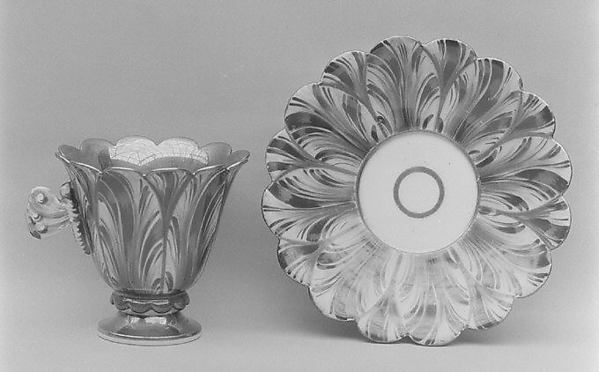 Cup and saucer, Hard-paste porcelain, German
