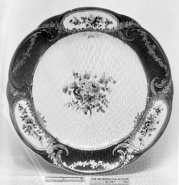 Plate (part of a service), Sèvres Manufactory (French, 1740–present), Hard-paste porcelain, French, Sèvres