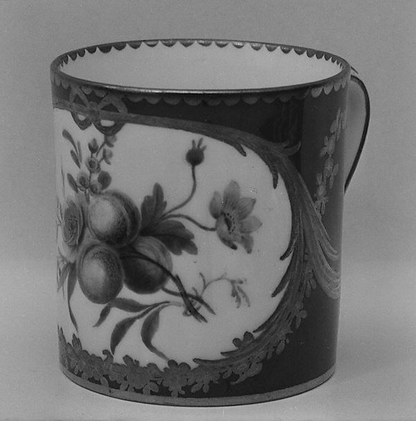 Cup (gobelet litron) (one of nine) (part of a service), Sèvres Manufactory (French, 1740–present), Soft-paste porcelain, French, Sèvres