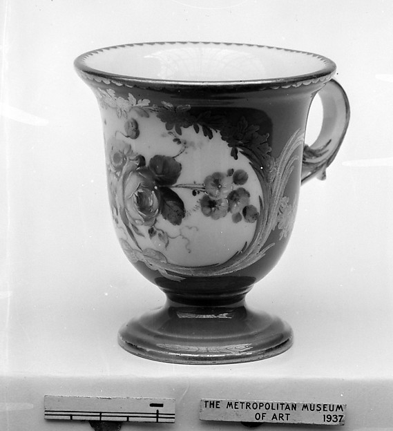 Ice cream cup (Tasse à glace) (part of a service), Sèvres Manufactory (French, 1740–present), Soft-paste porcelain, French, Sèvres
