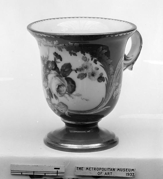 Ice cream cup (Tasse à glace) (part of a service), Sèvres Manufactory (French, 1740–present), Soft-paste porcelain, French, Sèvres