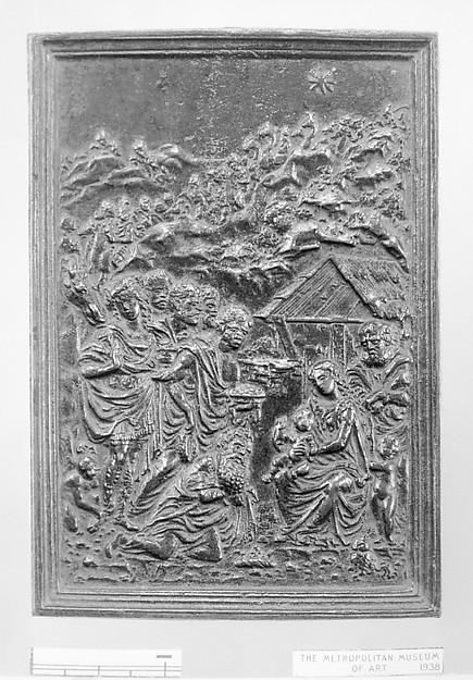 Adoration of the Magi, Moderno (Galeazzo Mondella) (Italian, Verona 1467–1528 Verona), Bronze, Northern Italian