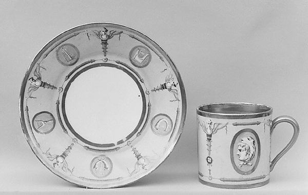 Cup (tasse litron) and saucer, Sèvres Manufactory (French, 1740–present), Soft-paste porcelain, French, Sèvres