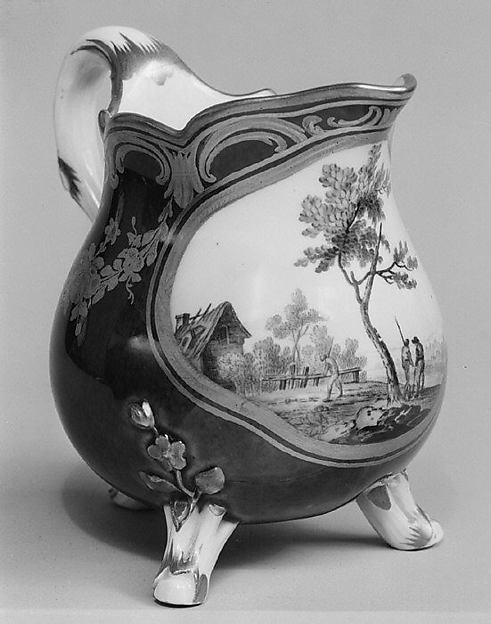 Milk jug, Sèvres Manufactory (French, 1740–present), Soft-paste porcelain, French, Sèvres