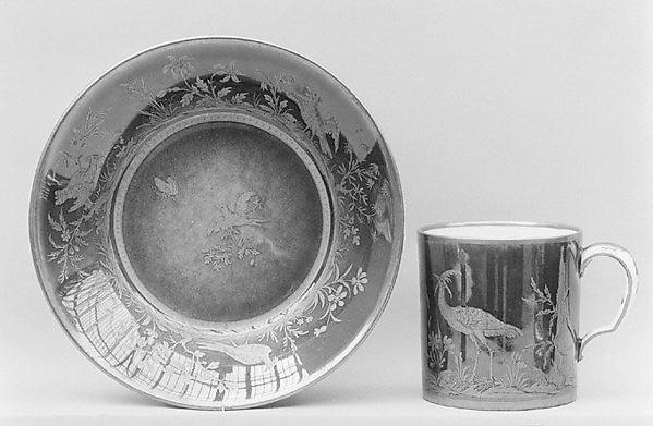 Saucer (soucoupe), Sèvres Manufactory (French, 1740–present), Hard-paste porcelain, French, Sèvres