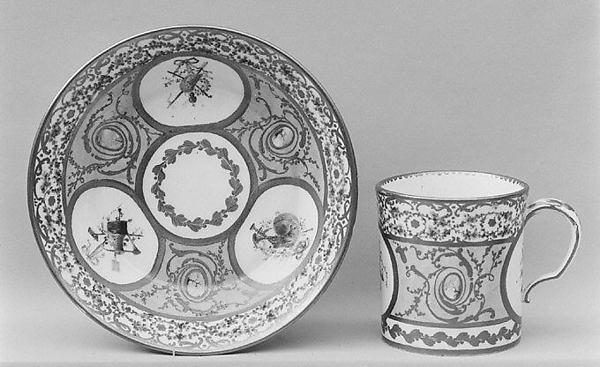 Cup (gobelet litron), Sèvres Manufactory (French, 1740–present), Soft-paste porcelain, French, Sèvres