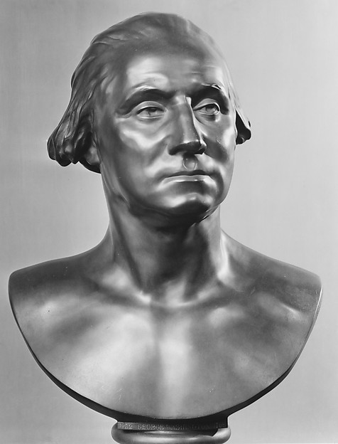 George Washington (1732–1799), After a model by Jean Antoine Houdon (French, Versailles 1741–1828 Paris), Bronze, dark brown patina, French
