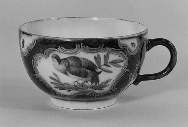 Cup and saucer, Probably by Samson, Hard-paste porcelain, French, Paris