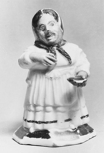 Female dwarf (one of a pair), Meissen Manufactory (German, 1710–present), Hard-paste porcelain, German, Meissen