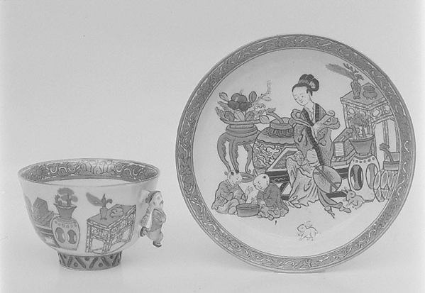 Cup and saucer, Herend, Hard-paste porcelain, Hungarian, Herend