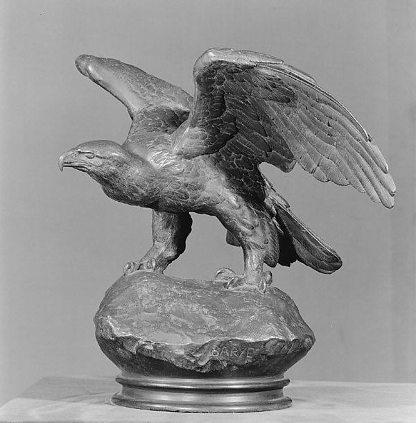 Eagle with Wings Outspread, Antoine-Louis Barye (French, Paris 1796–1875 Paris), Bronze, French