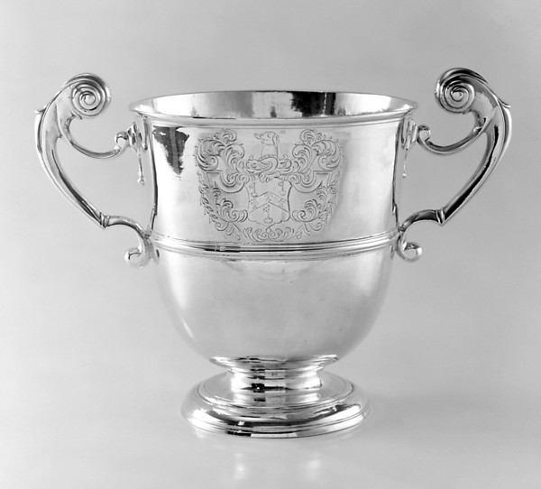 Two-handled cup, Possibly by Christopher Locker, Silver, Irish, Dublin
