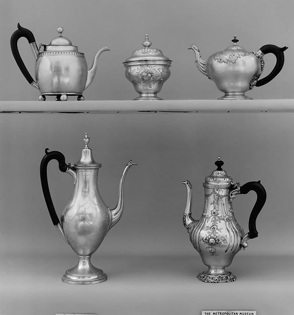 Teapot, Silver, Portuguese, Lisbon