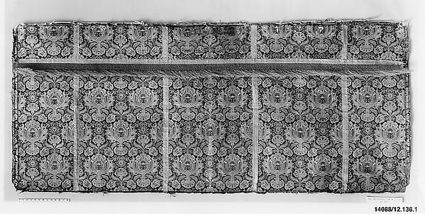Piece, Silk and metal thread, possibly Italian
