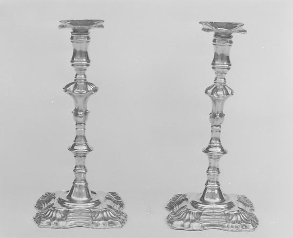 Pair of tapersticks, Sheffield plate, British, Sheffield