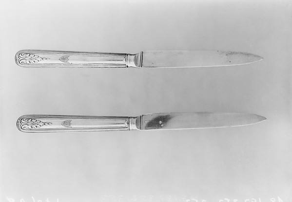 Knife (one of three), François Charles Gavet (French, appointed as cutler to the king 1782, died 1840), Silver gilt, French, Paris