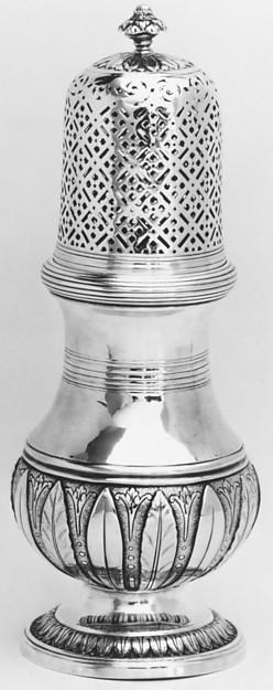 Sugar caster, Pierre Belleville (1700–1765, master 1730), Silver, French, Montpellier