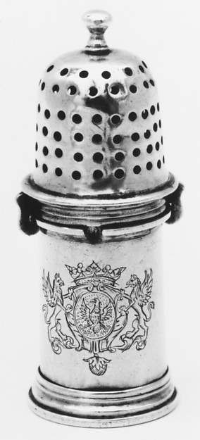 Pepper caster, Rainaud Levieux (master 1671, retired 1719, died 1723), Silver, French, Nîmes (Montpellier Mint)