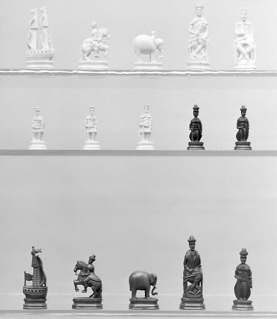 Chessmen (32), Walrus ivory, Russian, Kholmogory