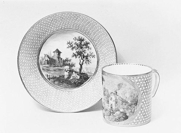 Cup and saucer (gobelet litron et soucoupe), Sèvres Manufactory (French, 1740–present), Soft-paste porcelain, French, Sèvres