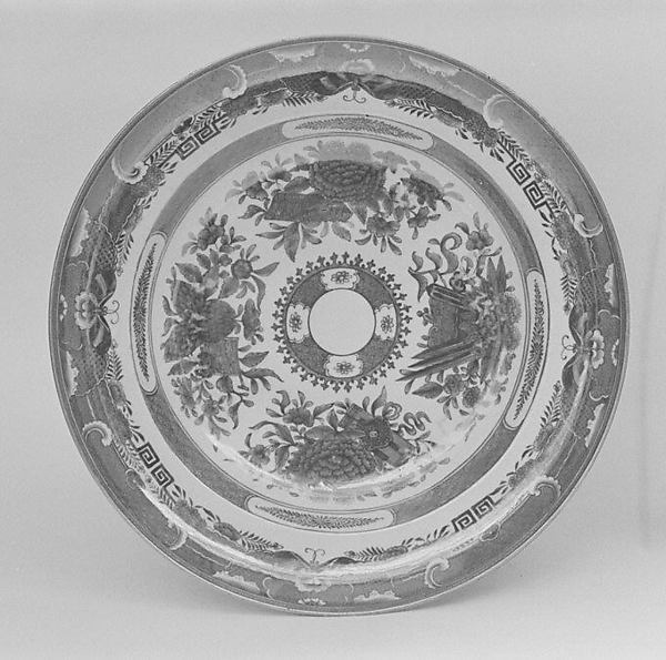 Soup plate, Hard-paste porcelain, Chinese, probably for American market