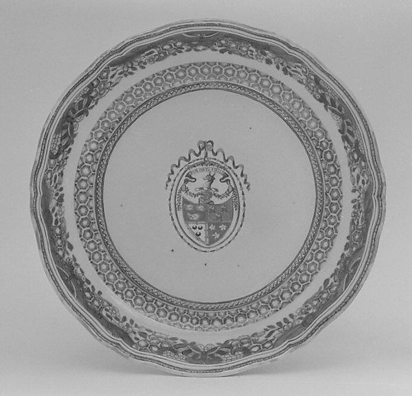 Deep dish (part of a service), Hard-paste porcelain, Chinese, for British market