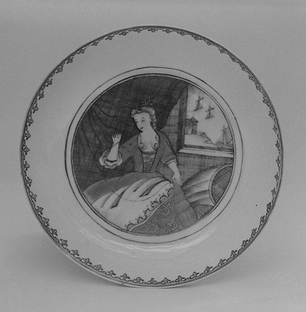 Deep dish (part of a service), Hard-paste porcelain, Chinese, possibly for Dutch market