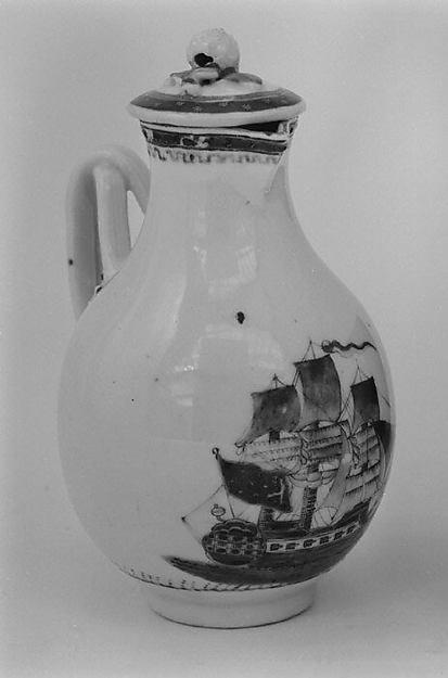 Hot milk jug, Hard-paste porcelain, Chinese, possibly for American market
