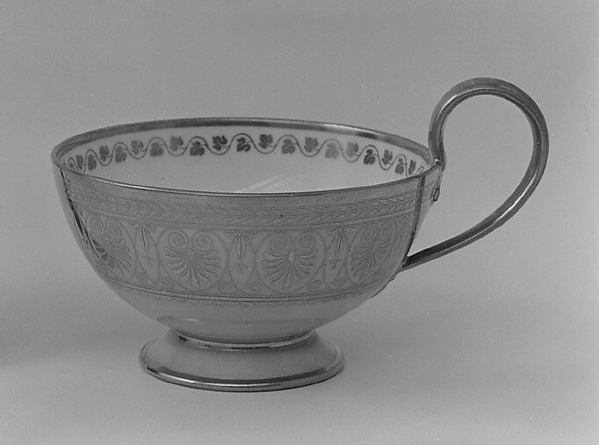 Cup (part of a service), Sèvres Manufactory (French, 1740–present), Hard-paste porcelain, French, Sèvres