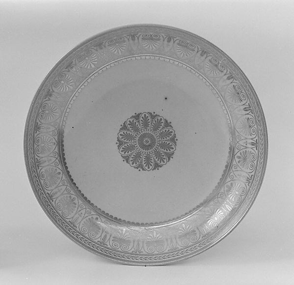 Saucer (part of a service), Sèvres Manufactory (French, 1740–present), Hard-paste porcelain, French, Sèvres