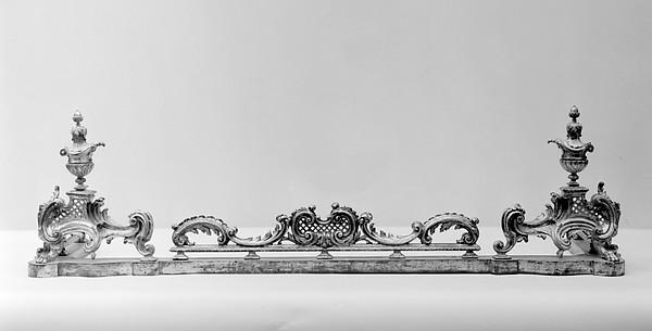 Fireplace fender, Gilt bronze, British