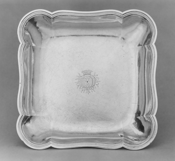 Dish, Paul-David Bazille (1740–1793, master 1766), Silver, French, Montpellier